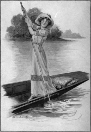 Lady punting
